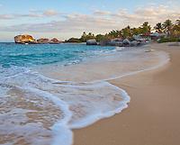 Virgin Gorda, British Virgin Islands, Caribbean <br /> Morning on  at Spring Bay, Spring Bay National Park