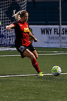 Rochester, NY - Saturday May 21, 2016: Western New York Flash defender Abigail Dahlkemper (13). The Western New York Flash defeated Sky Blue FC 5-2 during a regular season National Women's Soccer League (NWSL) match at Sahlen's Stadium.