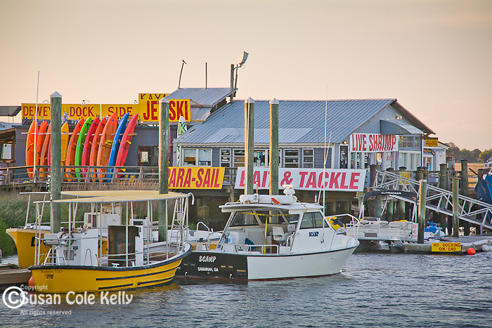 Dewey's Dock on Lazaretto Creek, Tybee Island, SC