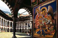 Fresken im Rilakloster in Bulgarien, Unesco-Weltkulturerbe