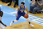 07 March 2015: Duke's Tyus Jones. The University of North Carolina Tar Heels played the Duke University Blue Devils in an NCAA Division I Men's basketball game at the Dean E. Smith Center in Chapel Hill, North Carolina. Duke won the game 84-77.
