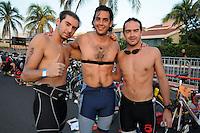 Triatlón Sports World Veracruz 2013- Arturo Vega, Fernando Vega, Santiago Vega. ©NortePhoto.com ..<br /> YahirCeballos/NortePhoto