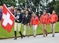 Blair Atholl, Scotland, UK. 8th September, 2015. Longines  FEI European Eventing Championships 2015, Blair Castle.Opening Ceremony Team SWE © Julie Priestley