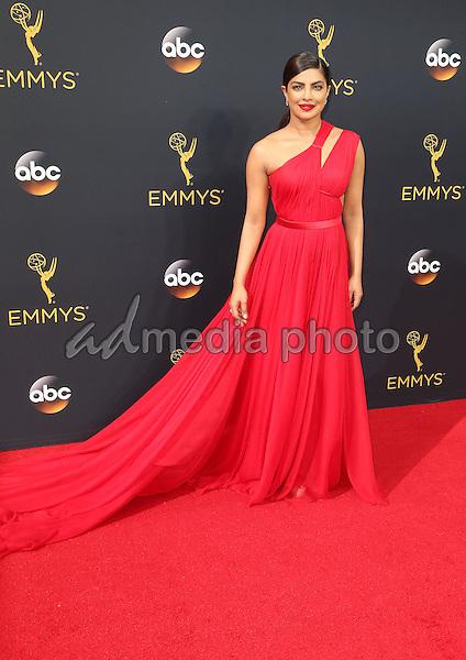 18 September 2016 - Los Angeles, California - Priyanka Chopra. 68th Annual Primetime Emmy Awards held at Microsoft Theater. Photo Credit: AdMedia