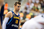 Spain's basketball player Victor Claver during the first match of the preparation for the Rio Olympic Game at Coliseum Burgos. July 12, 2016. (ALTERPHOTOS/BorjaB.Hojas)