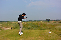 Gerard Dunne (Co. Louth) on the 16th tee during Round 3 of the East of Ireland Amateur Open Championship sponsored by City North Hotel at Co. Louth Golf club in Baltray on Monday 6th June 2016.<br /> Photo by: Golffile   Thos Caffrey
