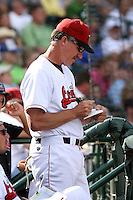 June 15th 2008:  Pitching Coach Danny Darwin of the Great Lakes Loons, Class-affiliate of the Los Angeles Dodgers, during a game at Dow Diamond in Midland, MI.  Photo by:  Mike Janes/Four Seam Images