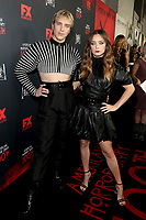 """LOS ANGELES - OCTOBER 26: (L-R) Cody Fern and Billie Lourd attend the red carpet event to celebrate 100 episodes of FX's """"American Horror Story"""" at Hollywood Forever Cemetery on October 26, 2019 in Los Angeles, California. (Photo by John Salangsang/FX/PictureGroup)"""