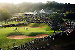 Ryder Cup 2010..Thousands of golf fans surround the 18th green..02.10.10.©Steve Pope.