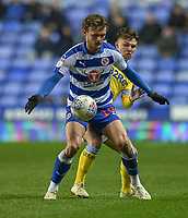 Leeds United's Jamie Shackleton (right) vies for possession with Reading's John Swift (left) <br /> <br /> Photographer David Horton/CameraSport<br /> <br /> The EFL Sky Bet Championship - Reading v Leeds United - Tuesday 12th March 2019 - Madejski Stadium - Reading<br /> <br /> World Copyright © 2019 CameraSport. All rights reserved. 43 Linden Ave. Countesthorpe. Leicester. England. LE8 5PG - Tel: +44 (0) 116 277 4147 - admin@camerasport.com - www.camerasport.com