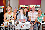 PARTY TIME: Enjoying the after wedding celebrations of Niall Hobbert and Sharon Crean from Tralee at the Station House bar and restaurant, Blennerville on Saturday l-r: Phil Kissane, Marie Moriarty, Rachel Godley and Anne, Mossie and Megsie Hobbert.