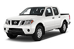 2019 Nissan Frontier SV 4 Door Pick Up angular front stock photos of front three quarter view
