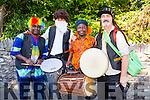 Getting ready for the parade at  Puck Fair on Monday were l-r Hayden Mulumba, Martin Scharer, Samuel Kiwanuka and Tim O'Shea