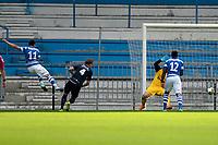 DOETINCHEM - Voetbal. De Graafschap - FC Emmen, voorbereiding seizoen 2017-2018, 12-08-2017,  de Graafschap speler Daryl van Mieghem (l) scoort de 2-0