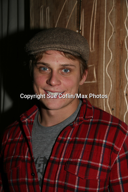 As The World Turns' Billy Magnussen at Marcia Tovsky's Holiday/Bon Voyage Party for AMC on December 1, 2009 at Nikki Midtown, New York City, New York. (Photo by Sue Coflin/Max Photos)
