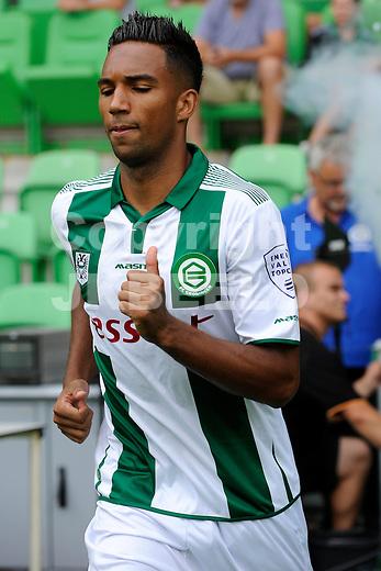 GRONINGEN - Voetbal, FC Groningen - Aston Villa, voorbereiding seizoen 2014-2015, 02-08-2014,  FC Groningen speler Danny Hoesen