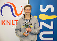 Rotterdam, The Netherlands, March 13, 2016,  TV Victoria, NOJK 12/16 years, Runner up girls 16 years Lara Panfilov (NED) <br /> Photo: Tennisimages/Henk Koster