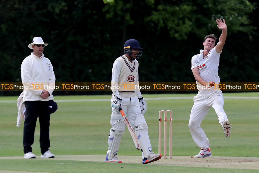 Matt Dison in bowling action during Essex CCC 2nd XI vs Surrey CCC 2nd XI, Second XI Championship Cricket at Billericay Cricket Club on 16th May 2017