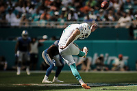 MIAMI, FL, 21.10.2018 – DOLPHINS-LIONS – Jogador Sanders do Miami, durante partida válida pela sétima semana da temporada regular da NFL, no Hard Rock Stadium, na tarde deste domingo (21)(Foto: Jayson Braga / Brazil Photo Press)