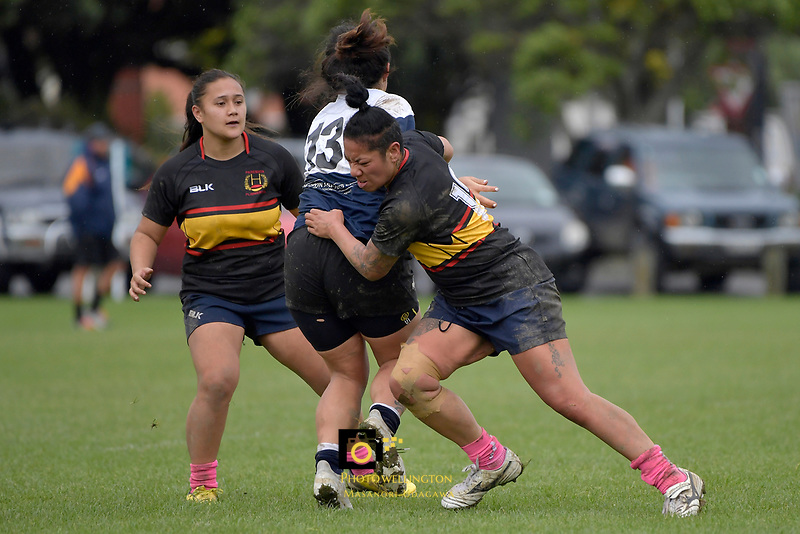 Women's Rugby - Petone v Paremata-Plimmerton at Petone Recreation Ground, Lower Hutt, New Zealand on Saturday 29 April 2017.<br /> Photo by Masanori Udagawa<br /> www.photowellington.photoshelter.com.