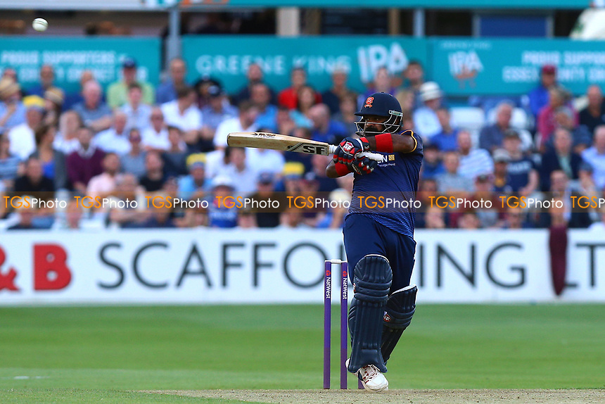 Ashar Zaidi in batting action for Essex during Essex Eagles vs Somerset, NatWest T20 Blast Cricket at The Cloudfm County Ground on 13th July 2017