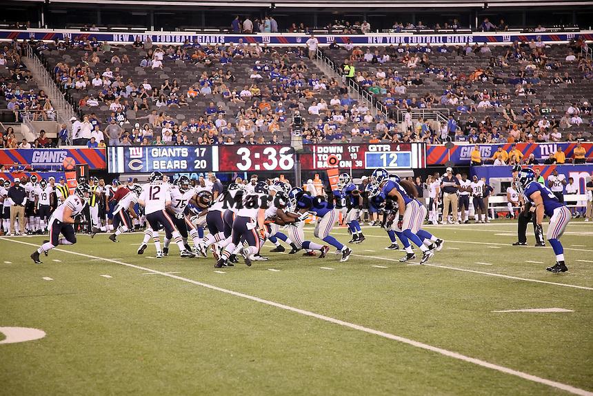 Spiel der Chicago Bears gegen die New York Giants im MetLife Stadium