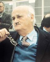 CIRILLO<br /> Morto Ciro Cirillo politico della DC rapito dalle Brigate Rosse nel 1981  e liberato dopo una presunta trattativa DC BR con la mediazione  di Cutolo <br /> durante il processo per il suo rapimento<br /> foto AGN