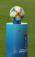 20190608 - REIMS , FRANCE : official World Cup ball pictured during the female soccer game between Norway – the Grashoppene - and Nigeria – The Super Falcons - , the first game for both teams in group A during the FIFA Women's  World Championship in France 2019, Saturday 8 th June 2019 at the Auguste Delaune Stadium in Reims , France .  PHOTO SPORTPIX.BE | DIRK VUYLSTEKE