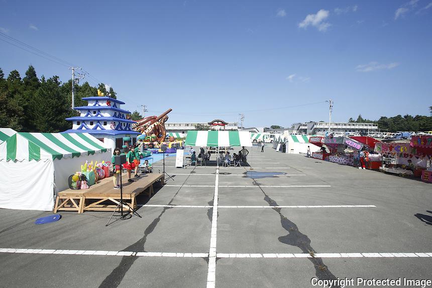 Fukushima evacuees return to Naraha. Full caption to come.