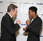 Bryan Cranston and Jeremy Pope during a reception for Theatre Forward's Chairman's Awards Gala at the Pierre Hotel on April 8, 2019 in New York City.