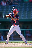 Peoria Chiefs right fielder Carlos Torres (7) at bat during the second game of a doubleheader against the South Bend Cubs on July 25, 2016 at Four Winds Field in South Bend, Indiana.  South Bend defeated Peoria 9-2.  (Mike Janes/Four Seam Images)