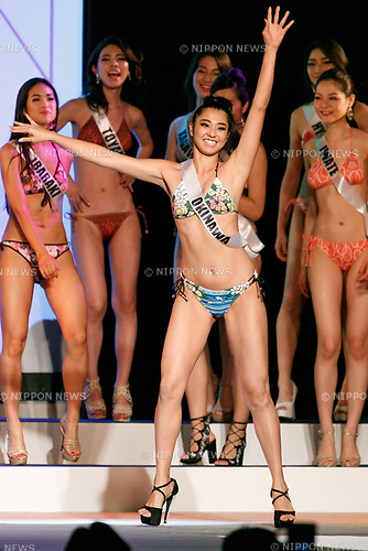 Miss Okinawa, Taira Erea, competes in the swimsuit category during Miss Universe Japan competition at Hotel Chinzanso Tokyo on July 4, 2017, Tokyo, Japan. Momoko Abe from Chiba who won the title will represent Japan in the next Miss Universe competition. (Photo by Rodrigo Reyes Marin/AFLO)