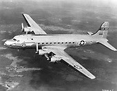The Douglas C-54 was the military version of the DC-4 airliner. The DC-4 had not yet entered commercial service when the United States Government commandeered the Douglas production line on December 5, 1941. No prototype was built, with the first production aircraft making its first flight February 14, 1942. The C-54D carried 50 passengers and was the most produced variant of the C-54. It was powered by four Pratt & Whitney R-2000-11 radial engines which produced 1,350 horse power each. The Skymaster gained its greatest fame flying over the Russians in the Berlin Airlift from June 1948 to September 1949..Credit: U.S. Air Force via CNP