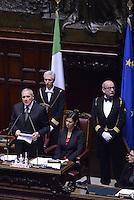 Roma, 16 Aprile 2015.<br /> Pietro Grasso e Laura Boldrini<br /> Celebrazione alla Camera dei deputati del 70° anniversario della liberazione dal nazifascismo.