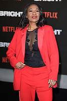 Karen Bryson at the European premiere for &quot;Bright&quot; European premiere at the BFI South Bank, London, UK. <br /> 15 December  2017<br /> Picture: Steve Vas/Featureflash/SilverHub 0208 004 5359 sales@silverhubmedia.com