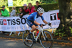 Elisa Longo Borghini (ITA) on the 2nd circuit of Harrogate during the Women Elite Road Race of the UCI World Championships 2019 running 149.4km from Bradford to Harrogate, England. 28th September 2019.<br /> Picture: Seamus Yore | Cyclefile<br /> <br /> All photos usage must carry mandatory copyright credit (© Cyclefile | Seamus Yore)