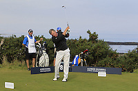 Jamie Grant (AM) on the 8th tee during Round 3 of the 2015 Alfred Dunhill Links Championship at Kingsbarns in Scotland on 3/10/15.<br /> Picture: Thos Caffrey | Golffile