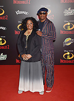 HOLLYWOOD, CA - JUNE 05: LaTanya Richardson, Samuel L. Jackson attends the premiere of Disney and Pixar's 'Incredibles 2' at the El Capitan Theatre on June 5, 2018 in Los Angeles, California.<br /> CAP/ROT/TM<br /> &copy;TM/ROT/Capital Pictures