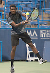Francis Tiafoe (USA) loses to Evgeny Donskoy (RUS) 6-4, 6-4 at the CitiOpen in Washington, D.C., Washington, D.C.  District of Columbia on July 28, 2014.
