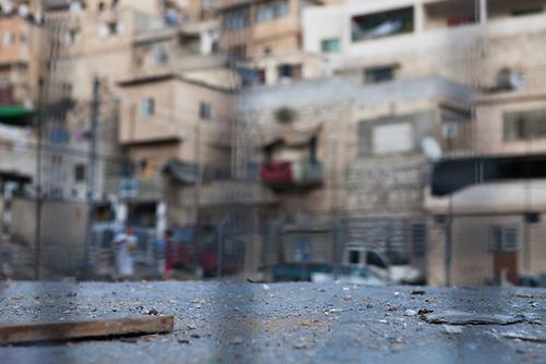Silwan, Jerusalem, Octobre 2011. Des debris recouvre le sol des rues de Silwan, un quartier Palestinien particulierement sensible de Jerusalem ou des affrontement entre des jeunes et la police israelienne ont lieu chaques semaines.