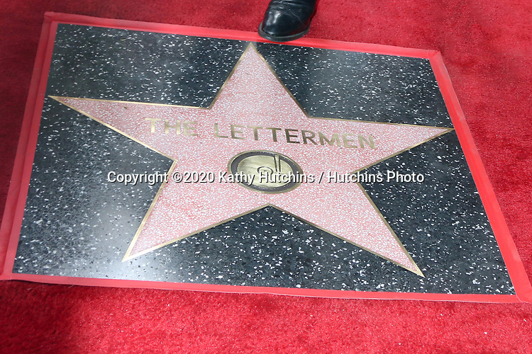 LOS ANGELES - FEB 24:  Letterman Star with Tony Butala's toe at the The Lettermen Star Ceremony on the Hollywood Walk of Fame on February 24, 2019 in Los Angeles, CA