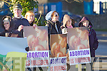 Anti Abortion protest at Manor on Wednesday..