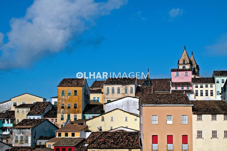 Casarões do Pelourinho em Salvador, Bahia. 2009. Foto de J. L. Bulcão.