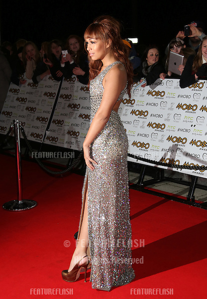 Rebecca Ferguson arriving for The MOBO awards 2012 held at the Echo Arena, Liverpool. 03/11/2012 Picture by: Henry Harris / Featureflash