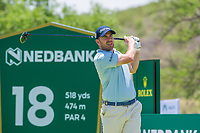 Richie Ramsay (SCO) on the 18th tee during the first round at the Nedbank Golf Challenge hosted by Gary Player,  Gary Player country Club, Sun City, Rustenburg, South Africa. 14/11/2019 <br /> Picture: Golffile | Tyrone Winfield<br /> <br /> <br /> All photo usage must carry mandatory copyright credit (© Golffile | Tyrone Winfield)