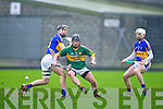 Kerry's Thomas Casey and Tipperary's Eoin Kelly in action in the Waterford Crystal cup at Austin Stack park, Tralee on Sunday.
