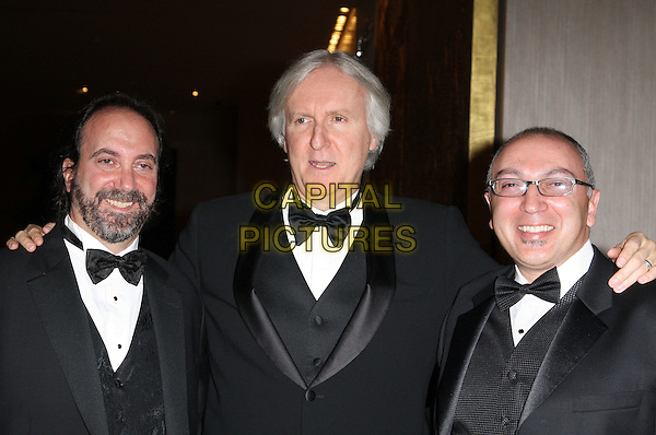 JAMES CAMERON & Nominees.60th Annual ACE Eddie Awards held At The Beverly Hilton Hotel, Beverly Hills, California, USA.  .February 14th, 2010.half length black tux tuxedo arm over shoulder bow tie beard facial hair .CAP/ADM/KB.©Kevan Brooks/Admedia/Capital Pictures