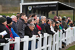 'Groundhoppers' and other spectators watching Edinburgh University taking on Selkirk in a Scottish Lowland League match at Peffermill, Edinburgh in a game the hosts won 3-2. The match was one of six attended by members of GroundhopUK over the weekend to accommodate groundhoppers, fans who attempt to visit as many football venues as possible. Around 100 fans in two coaches from England participated in the 2016 Lowland League Groundhop and they were joined by other individuals from across the UK which helped boost crowds at the six featured matches.