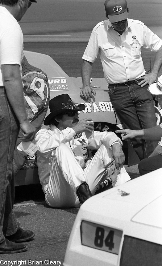 Richard Petty grid pre race Daytona 500 at Daytona International Speedway in Daytona Beach, FL on February  1984. (Photo by Brian Cleary/www.bcpix.com)