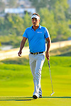 30 August 2009: Fredrik Jacobson of Sweden walks onto the 18th green during the final round of The Barclays PGA Playoffs at Liberty National Golf Course in Jersey City, New Jersey.